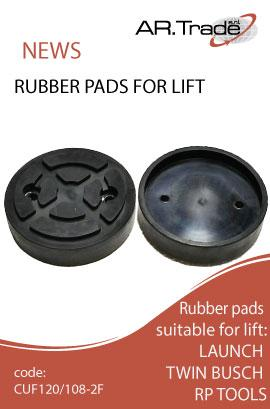 Tacos de goma y almohadillasredondas para elevadores, calzos de goma para estacionamienmto | Rubber pads for auto lifts, parking rubber chocks